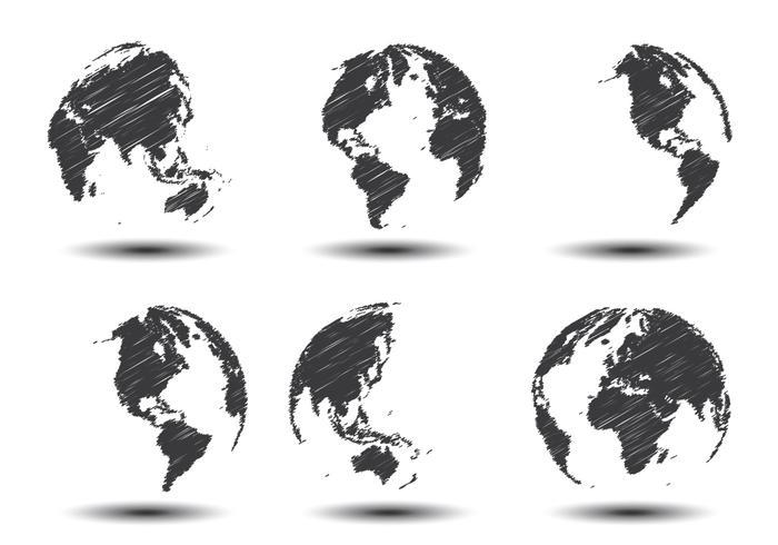 700x490 Sketch World Map Vectors