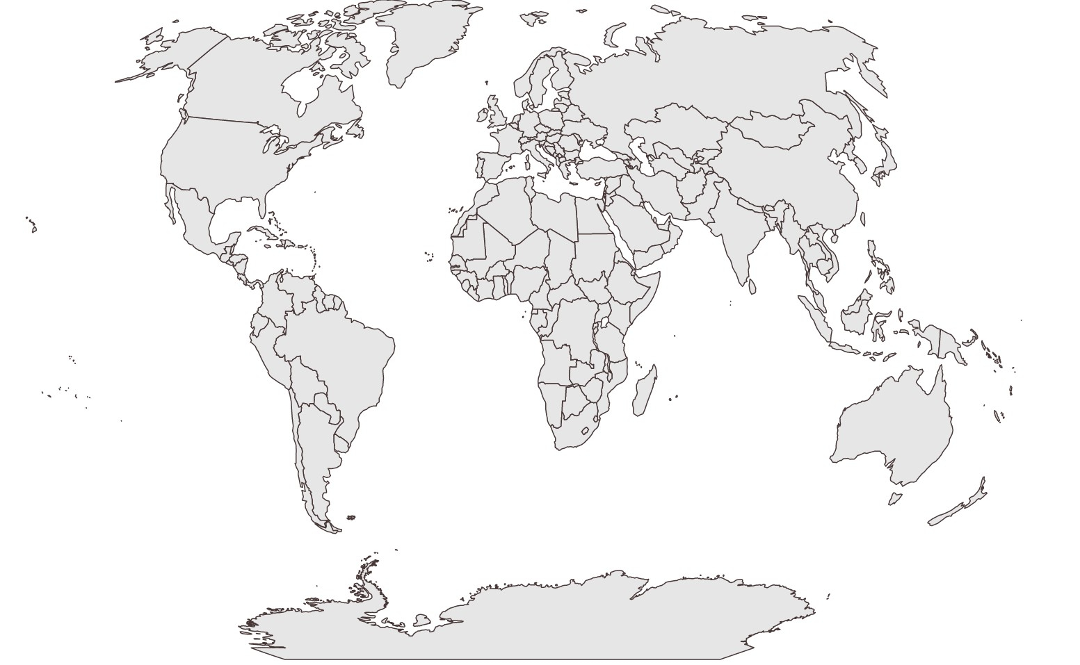 World Map Vector Black And White At Getdrawings Com Free For