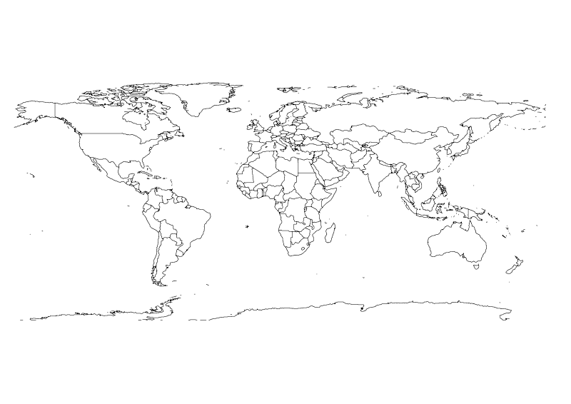 800x566 World Map Vector Clipart