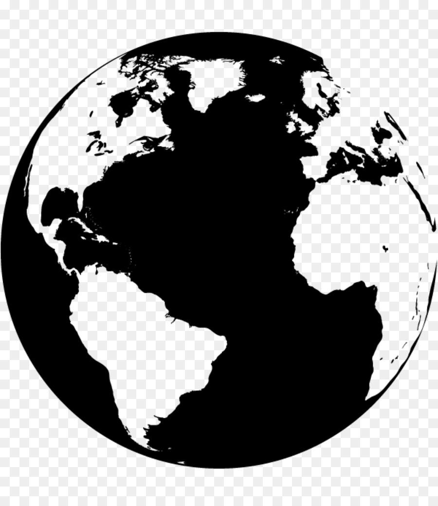 900x1040 World Map Globe Vector Map