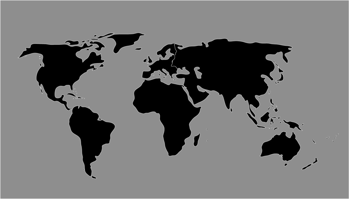 1182x675 World Map Black And White Vector