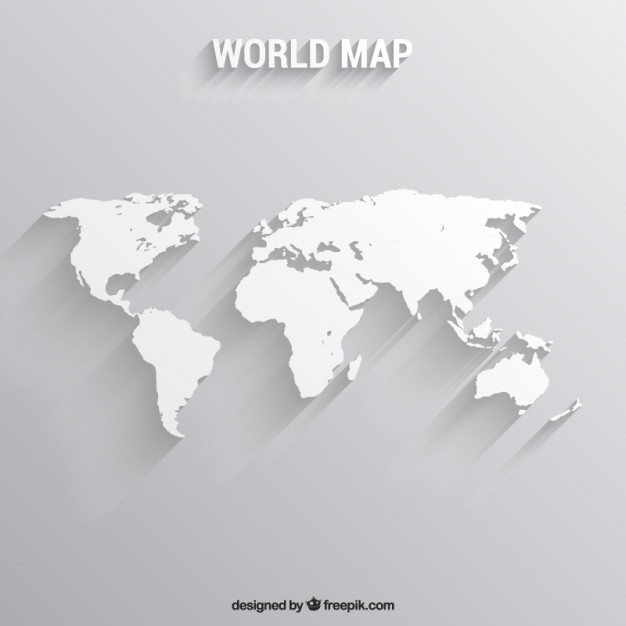 626x626 Map Of The World In White White World Map Vector Free Download 626