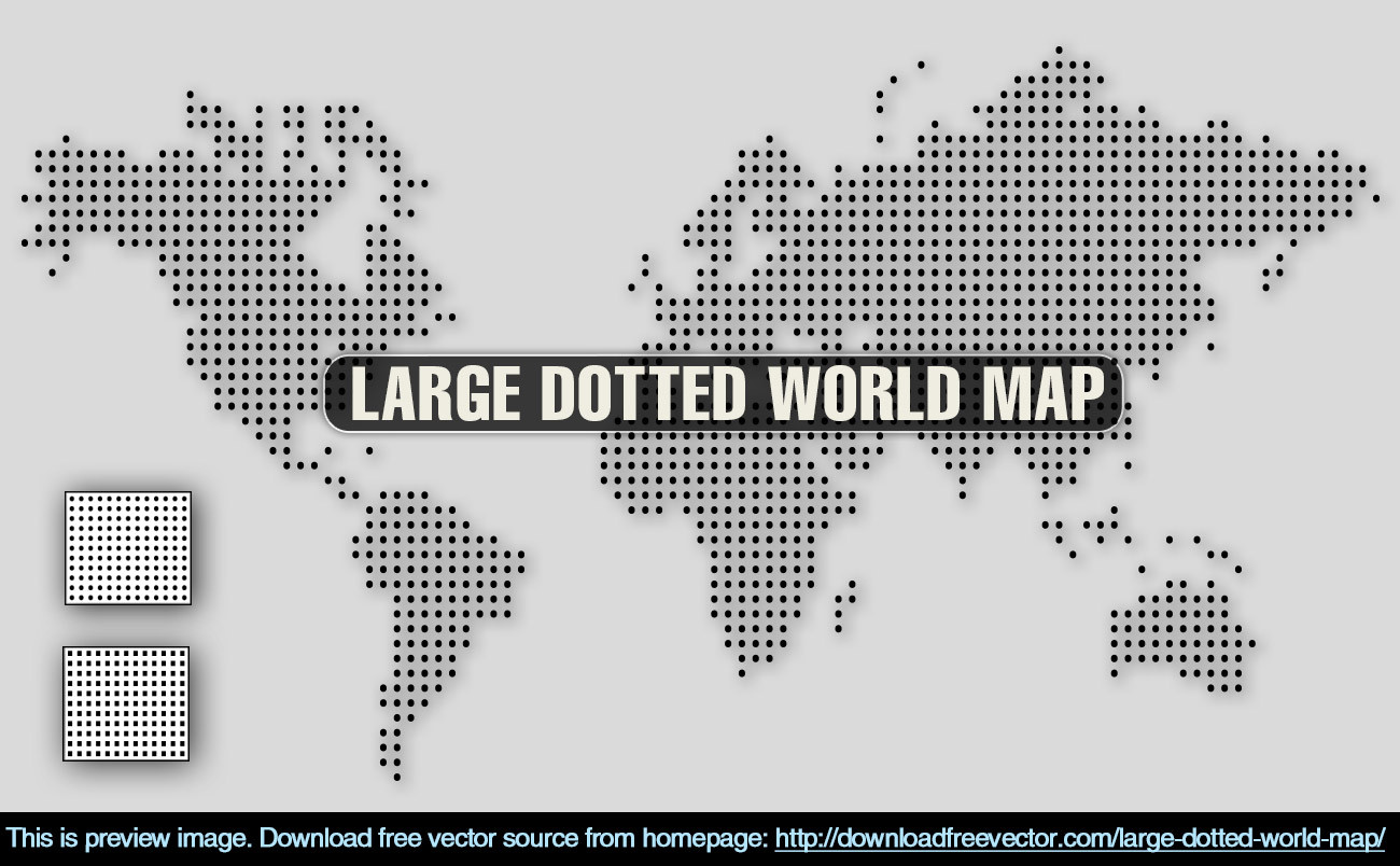 1300x804 World Map Vector Free 8 Vector Dotted World Map Free Vector World