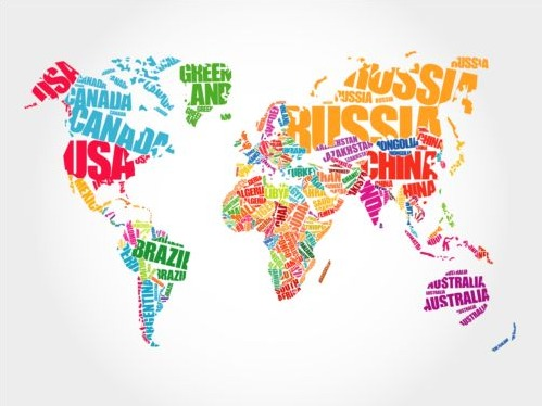 499x374 Country Text With World Map Vector Free Vectors Ui Download