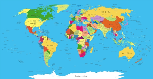 600x313 Maps Of The World Political World Map Vector Template Vector Maps