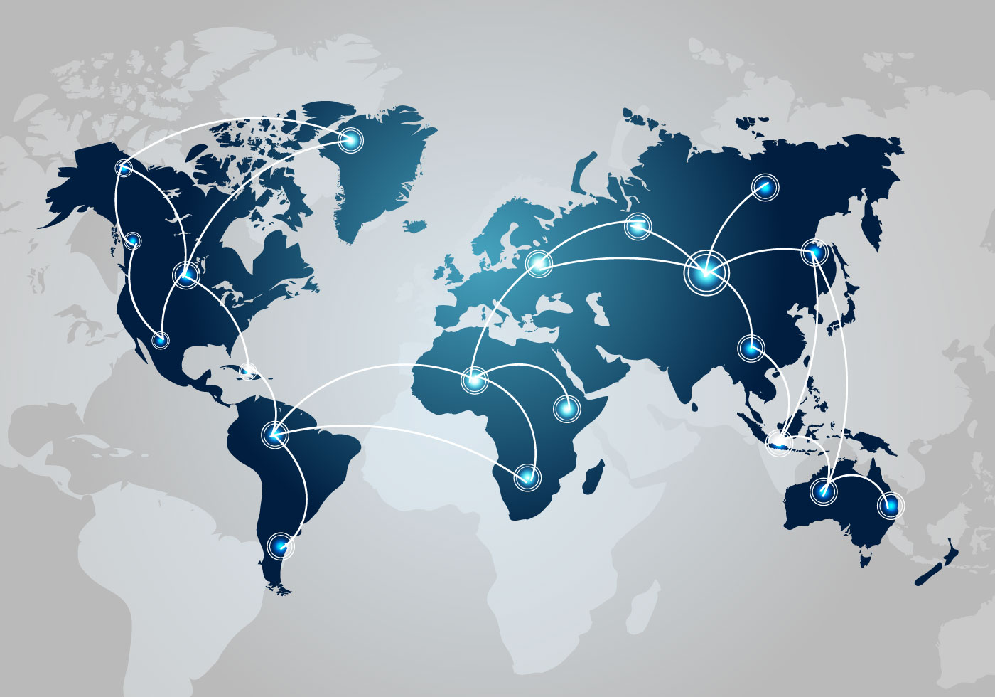 1400x980 Tech World Map Vector