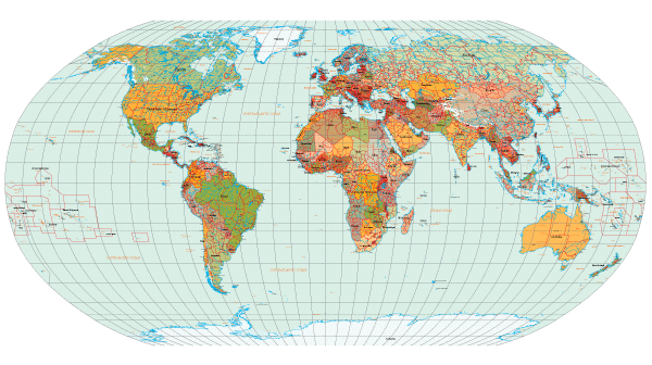 600x336 World Map With Countries Names Vector Free Download 123freevectors