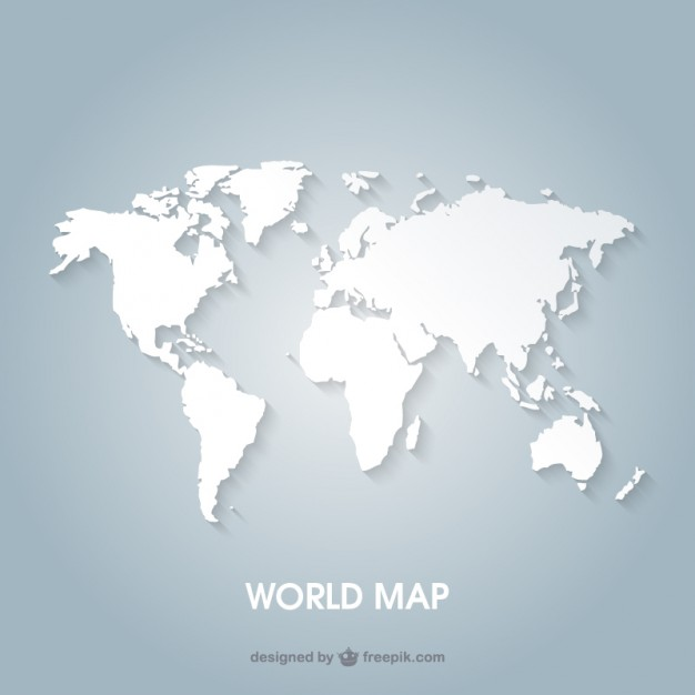 626x626 World Map Vector Free Download