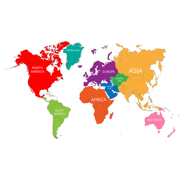 600x600 World Map With Mark Vector Material Vector Maps Free Download