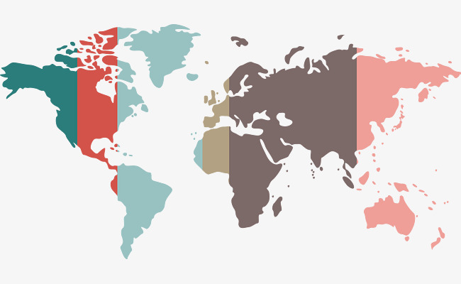 650x400 Color World Map, Color Vector, World Vector, Map Vector Png And
