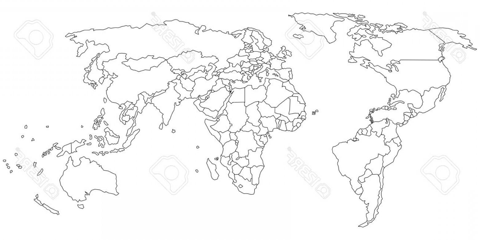 1560x780 World Map Vector Line Art Geekchicpro