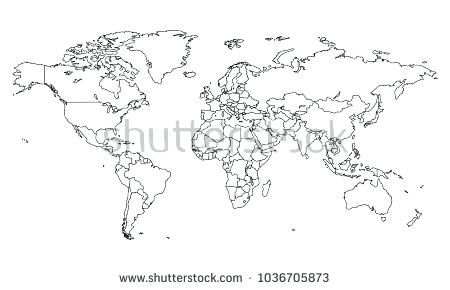 450x290 World Map Vector Template Best Of Outline The World Blank Outline