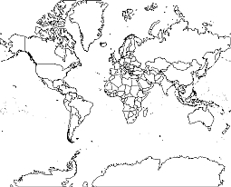 World Map Vector Outline At Getdrawings Com Free For Personal Use