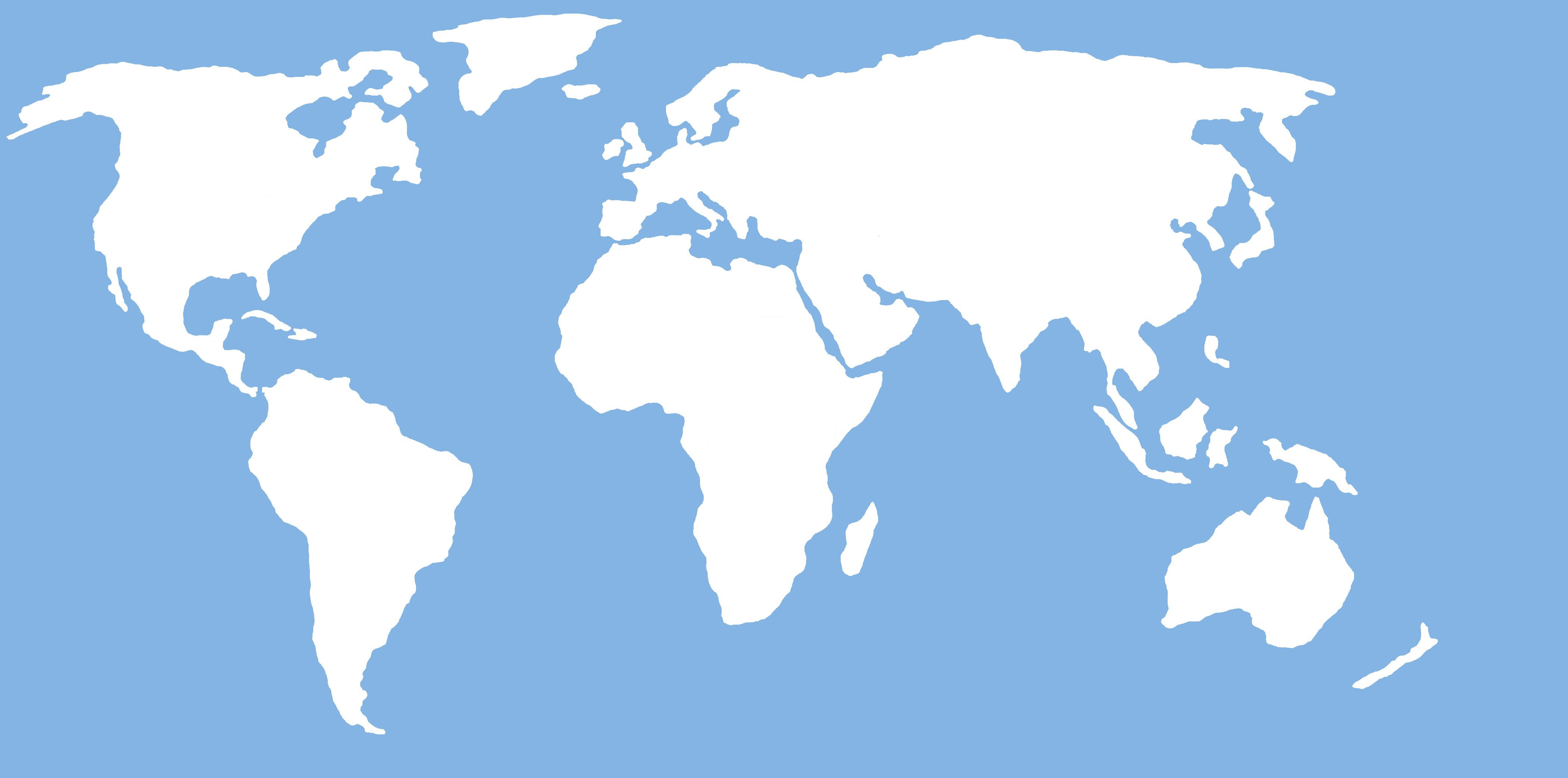 4200x2085 Flat World Map Outline Simple World Map Outline Vector Fresh