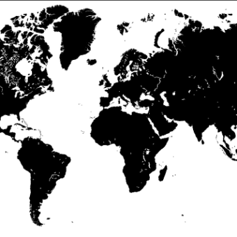 340x340 Free Vector World Map With Capitals 123freevectors