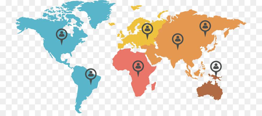 900x400 Globe World Map
