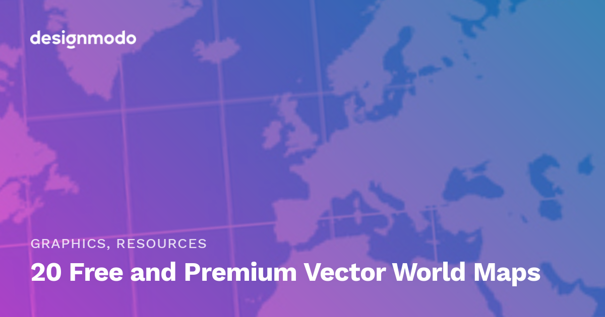 1200x630 20 Free And Premium Vector World Maps