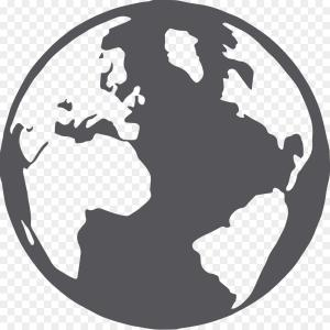 300x300 Png World Map Globe Silhouette Vector Earth Map Arenawp
