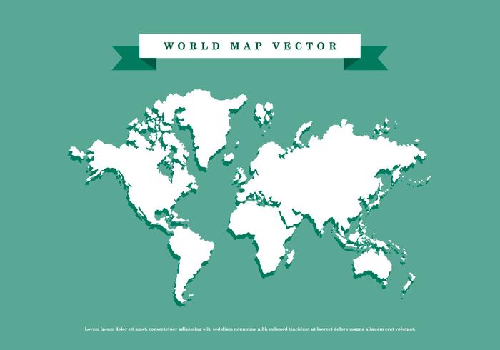 700x490 World Map Vector
