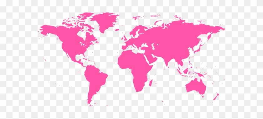 840x382 World Map Vector Pink