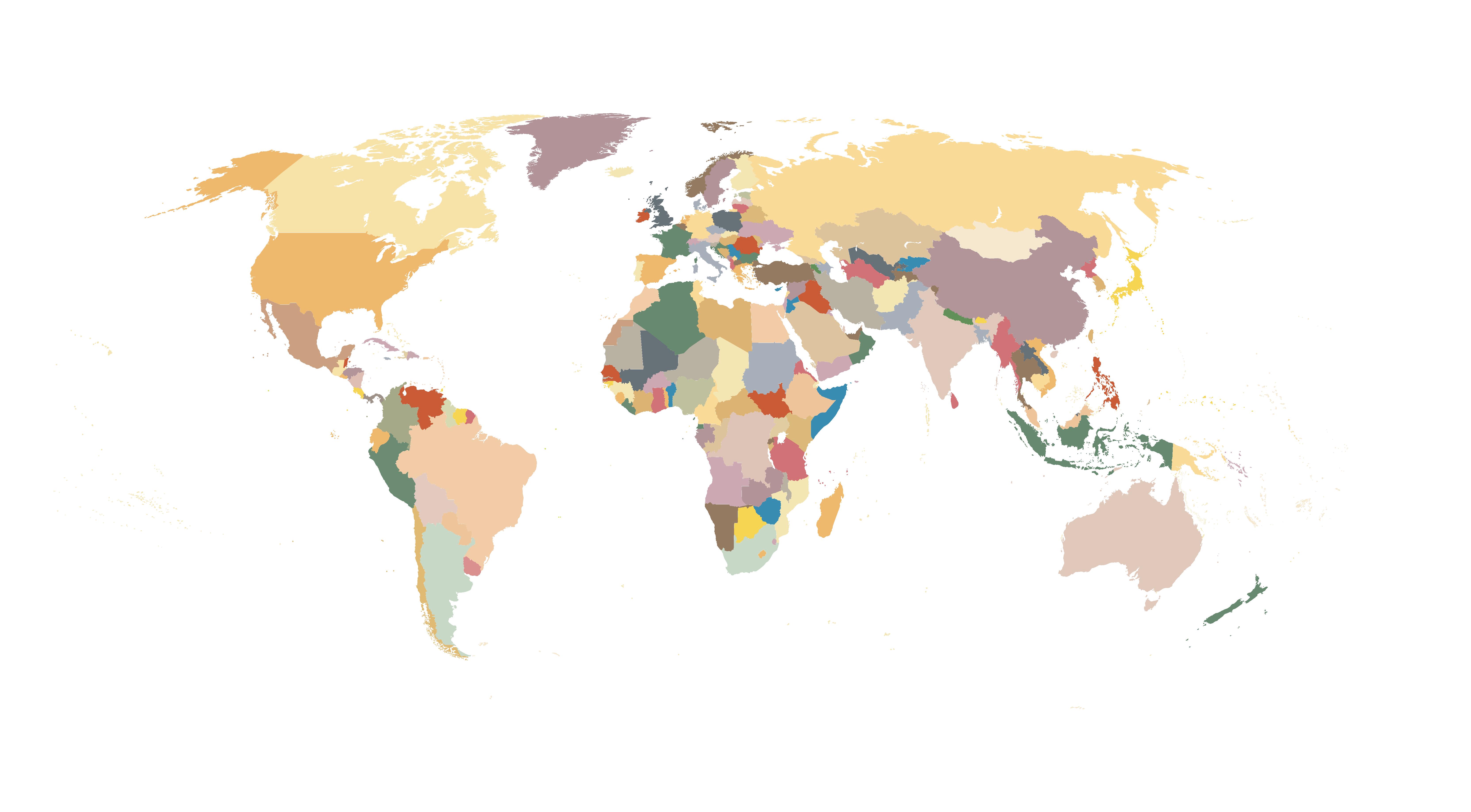 6653x3675 World Map Globe Wallpaper