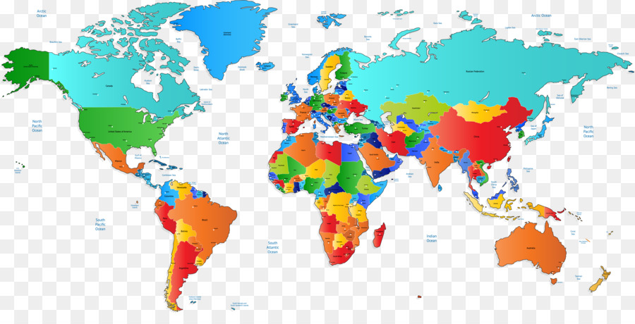 900x460 World Map Vector Map