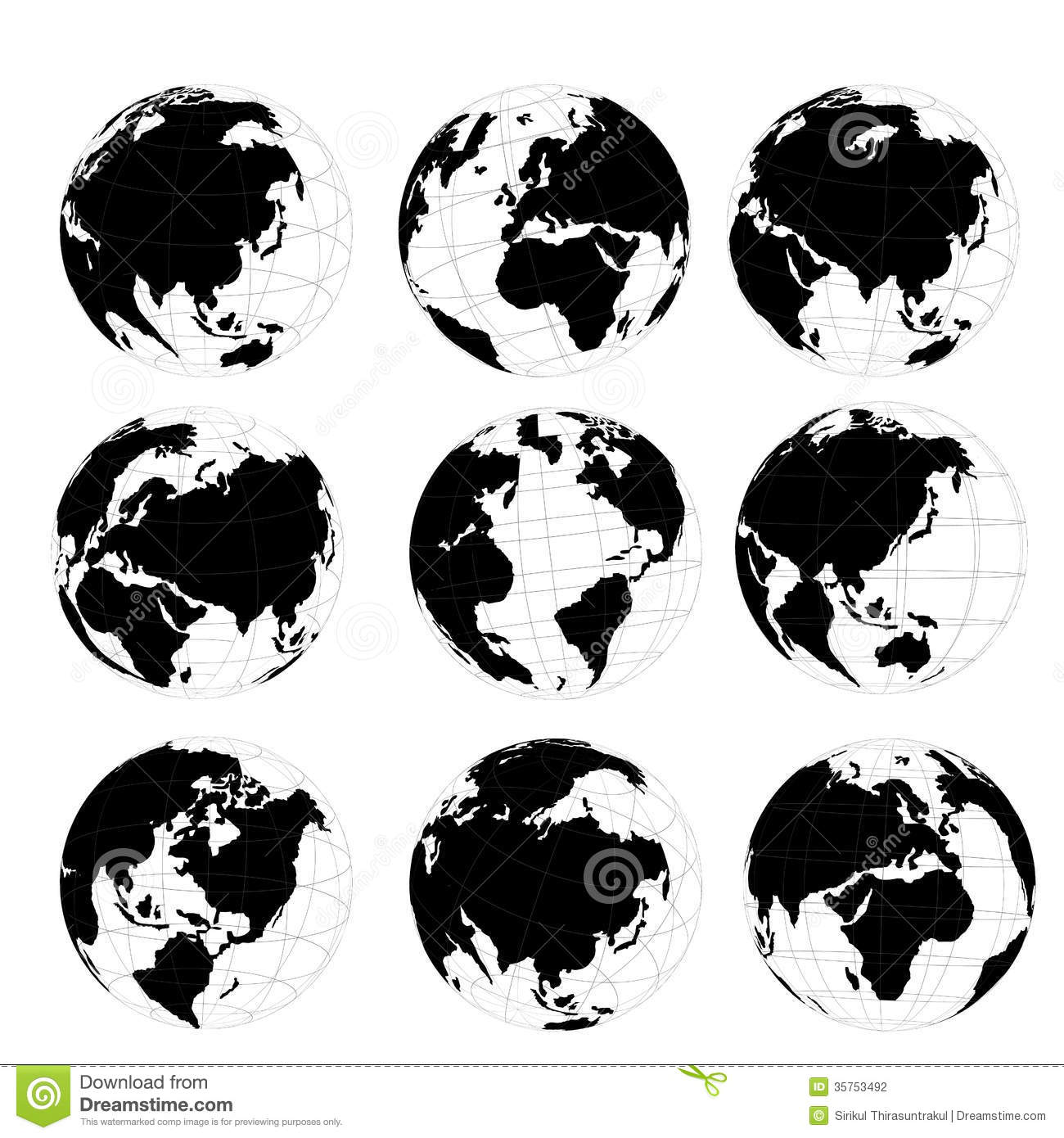 1300x1390 World Map Round Clip Library Stock