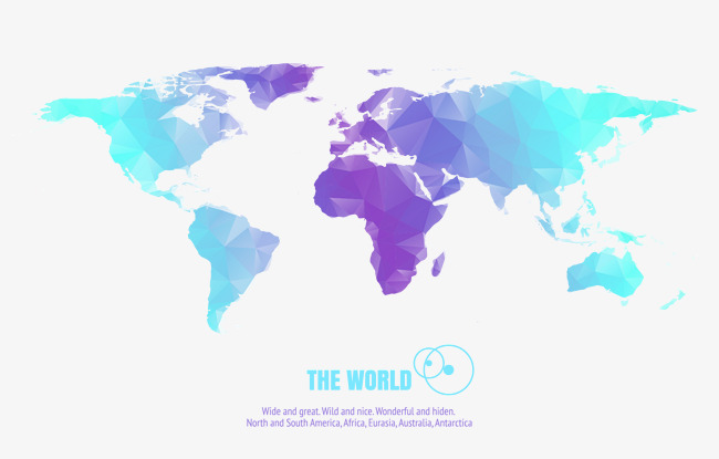 650x415 Crystal Vector Colorful World Map, Crystal Vector, World Vector