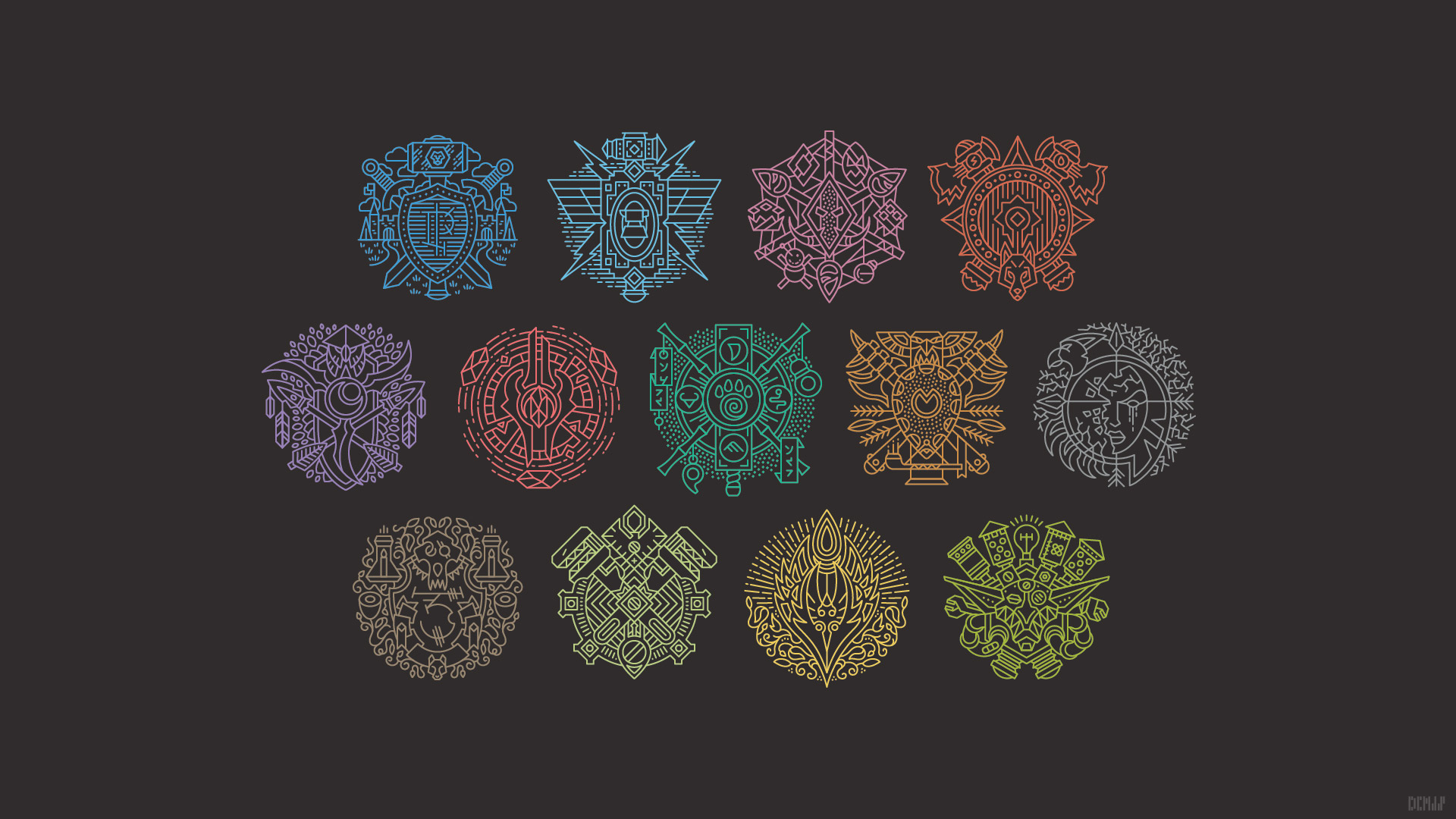 1920x1080 Master Of World Of Warcraft Redesigned Racial Crests
