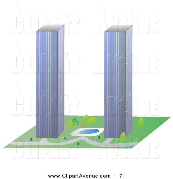 600x620 Towers Clipart World Trade Center