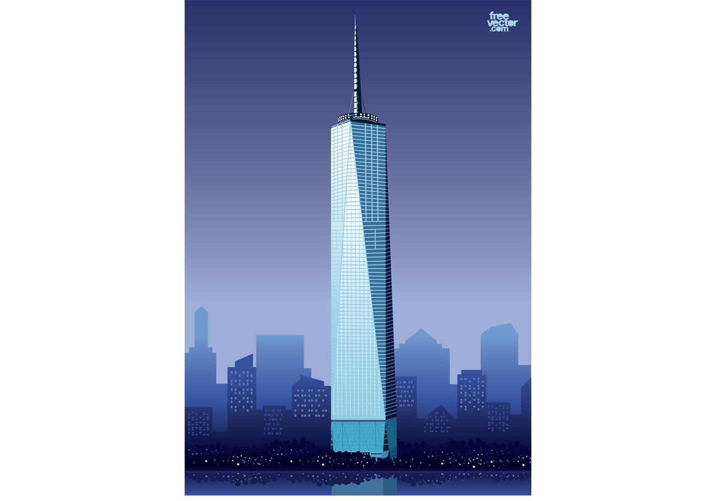 1400x980 World Trade Center New York Free Vector Art