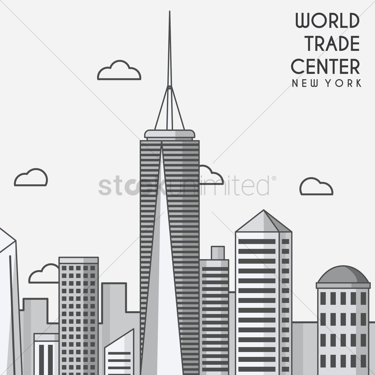 1300x1300 World Trade Center Vector Image