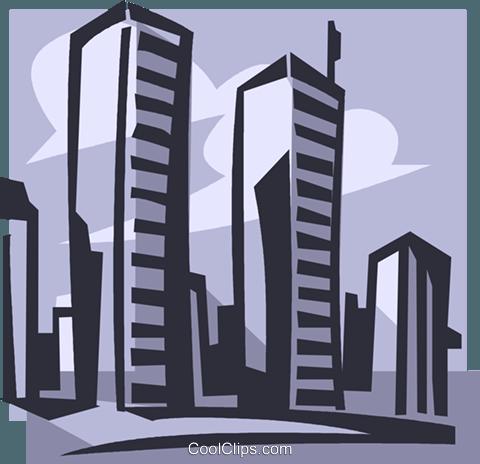 480x464 World Trade Center Royalty Free Vector Clip Art Illustration