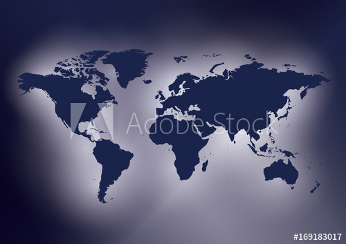 500x353 Dark Violet Background With Map Of The World