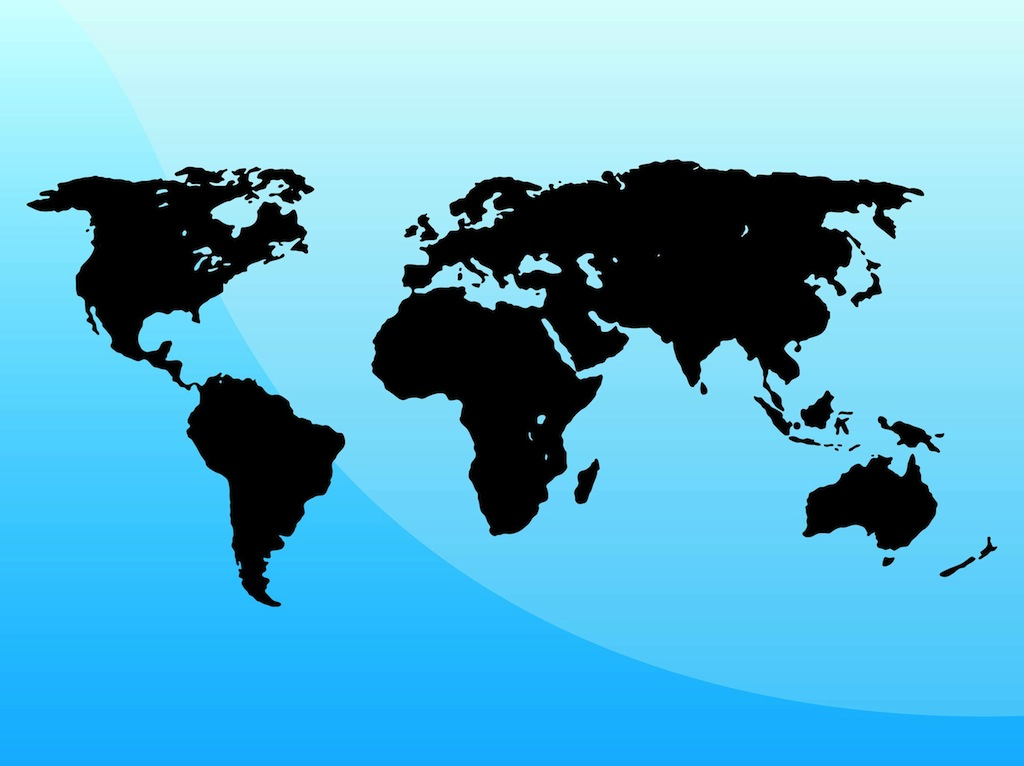 1024x766 Map Of The World Vector Art Amp Graphics