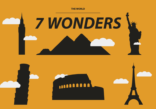632x443 The Seven Wonders Vector Free Vector Download 329701 Cannypic