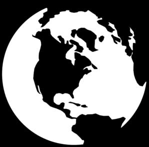 298x294 World Globe Bampw Clip Art