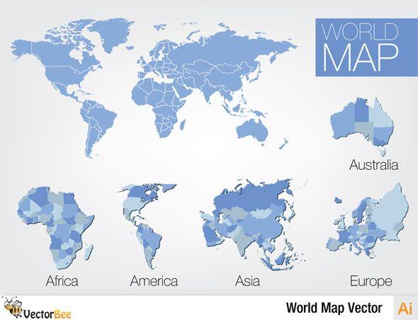 590x452 World Map Free Vector Design Free Vector Graphics