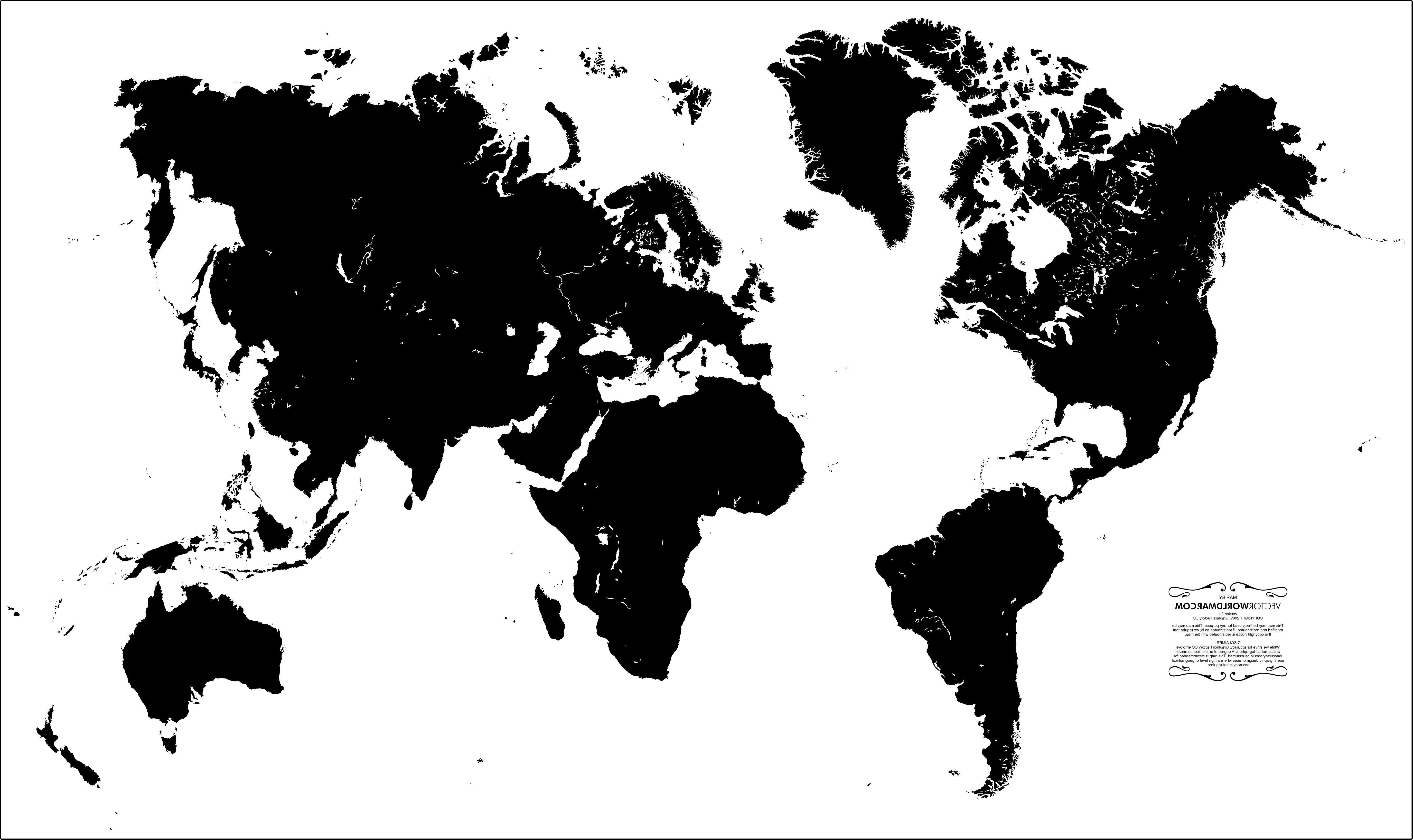 5501x3270 World Map Wallpaper ~ Print World Map Country Outline Vector New
