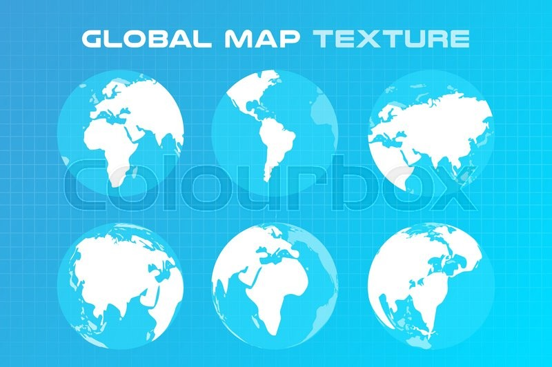 800x532 World Vector Map. Globe Earth Texture Map. Globe Vector Map View