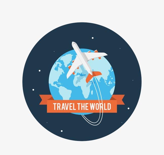 650x616 Airplane Travel Around The World, Airplane Vector, Travel Vector
