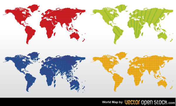 600x363 Free Color World Map Vector Free Psd Files, Vectors Amp Graphics