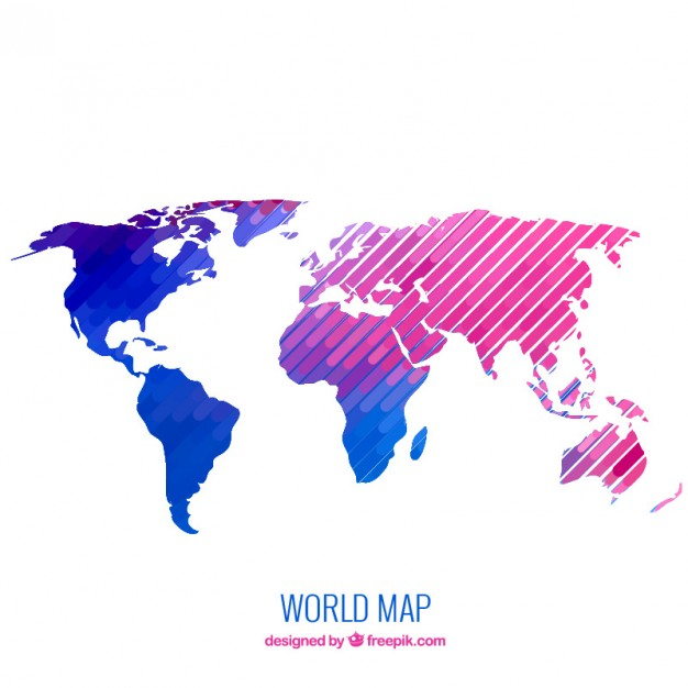 626x626 Free World Map Vector Collection Different Designs