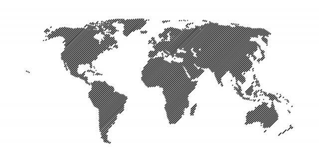 640x326 World Map Vector Free Collection