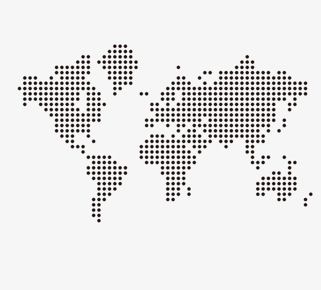 650x588 Dotted World Map, Black, Dot, Vector Png And Vector For Free Download