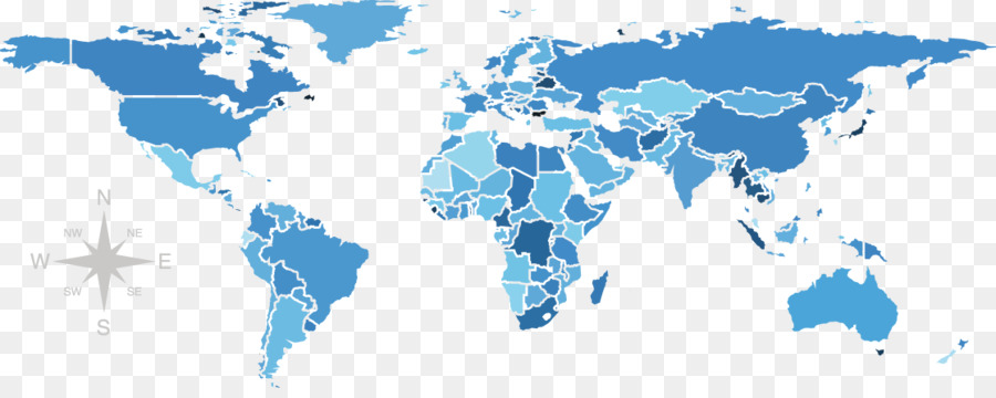 900x360 United States World Map Globe