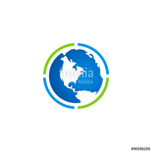 500x500 Globe Earth Map Abstract Vector Logo Stock Image And Royalty Free