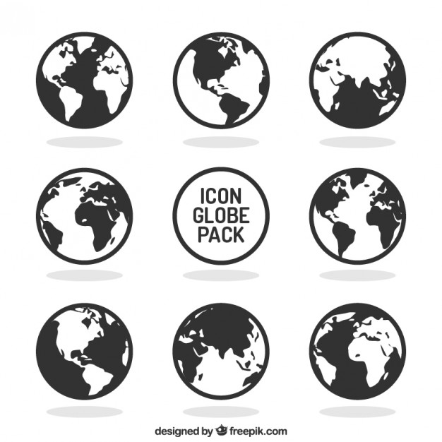 626x626 Globe Icons Collection Vector Free Download