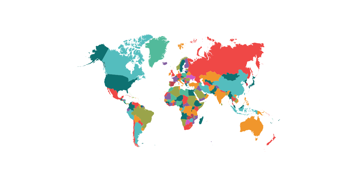 1200x628 Political Map Of The World Free Vector And Transparent Png The