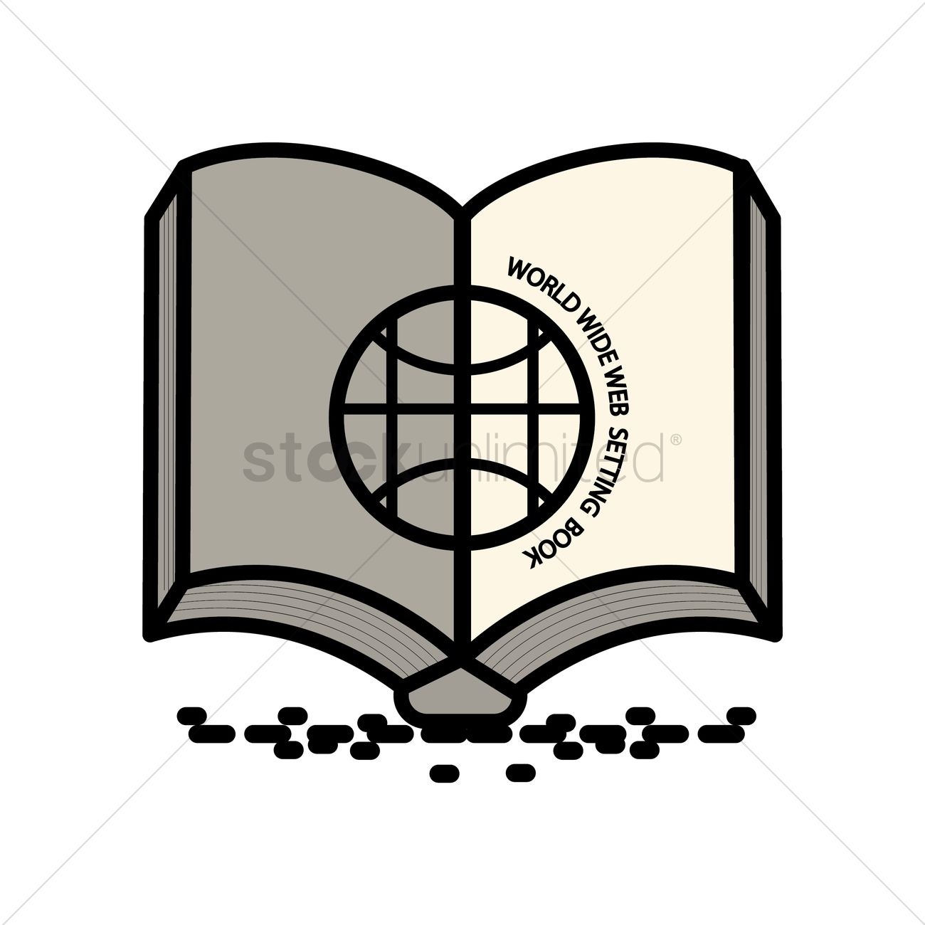 1300x1300 World Wide Web Setting Book Icon Vector Image